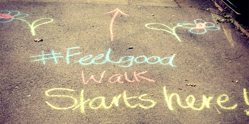 Photo Of Feel Good Chalk Drawing