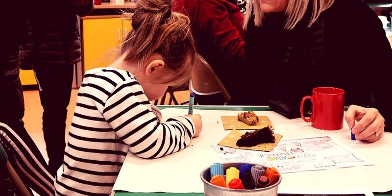 Photo of little girl colouring in